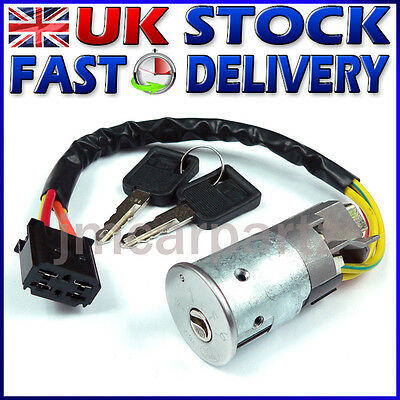 Ignition Switch Lock Barrel & Keys Compatible With RENAULT CLIO MK2 1998 - 2005 • 29.49£