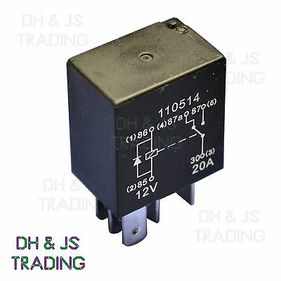 Micro Relay 5 PIN 12v 20a + Diode Changover Mini 20 Amp CAR VAN MARINE MRY11 • 2.65£