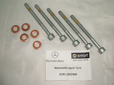 Genuine Mercedes-Benz Diesel Injector Bolts & Copper Washers (Set Of 5) NEW • 15.03£