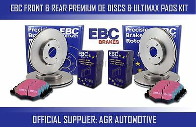 Ebc Front + Rear Discs And Pads For Renault Koleos 2.0 Td 150 Bhp 2008- Opt2 • 228.62£