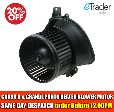 VAUXHALL CORSA D BLOWER MOTOR FAN & FIAT GRANDE PUNTO WITH Or WITHOUT AIRCON • 41.50£