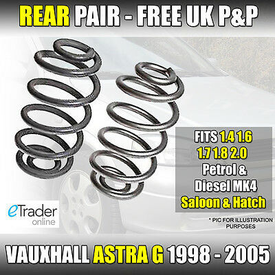 Vauxhall Astra G Hatchback 98-05 Rear Coil Springs Saloon Hatch Pair Spring X 2 • 17.99£