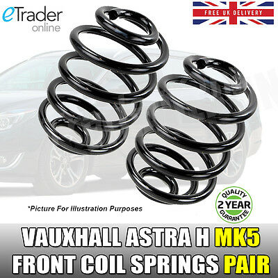 Vauxhall Astra H MK5 Front Coil Springs 1.4 1.6 Pair X2 Road Spring 2004-2011 • 24.98£