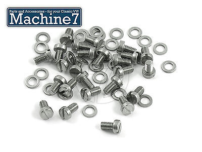 Classic VW Beetle Bug Engine Tinware Screw Slot Head & Washer Stainless Bus X25 • 6.40£
