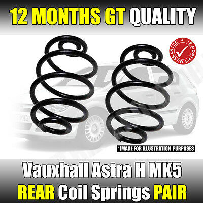 VAUXHALL ASTRA H REAR COIL SPRINGS MK5 2004-2011 SRi Models With Factory LOWERED • 34.98£