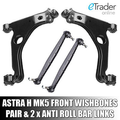 VAUXHALL ASTRA H MK5 WISHBONES ARMS X2 INC DROP LINKS Inc OPEL ARM PAIR FRONT • 47.98£