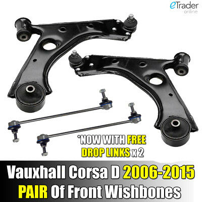 Vauxhall Corsa D 2006-2015 Front Lower Suspension Wishbones Arms Pair Left Right • 51.98£