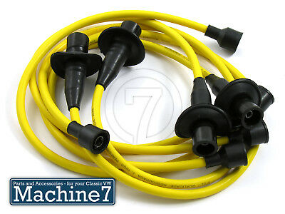 Classic VW Beetle Engine Ignition Spark Plug HT Leads YELLOW T2 Camper Van Bug • 15£