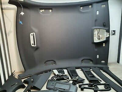 Mercedes C Class W204 Complete Black Roof Headlining With Trims • 180.49£