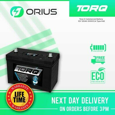 Torq S Commercial Battery 12V 120Ah 1000CCA Type 642 - Free Next Day Delivery • 95.25£