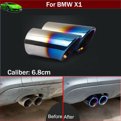 2pcs Blue Exhaust Parts Muffler Tail Pipe Tips Tailpipe For BMW X1 2011-2021 • 39.99£