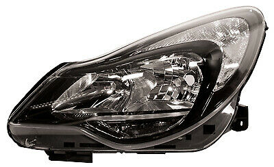 Headlight Black Left Hand For Vauxhall Corsa D 2011 To 2014 • 77.02£