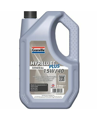 Granville Hypalube Mineral 15w40 Engine Oil 5 Litre Petrol And Diesel • 15.95£