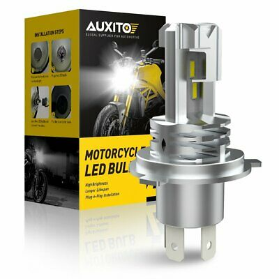 H4 9003 LED Bulb 15000LM Replacement High/Low Beam Motorcycle Headlight 6000K UK • 15.59£