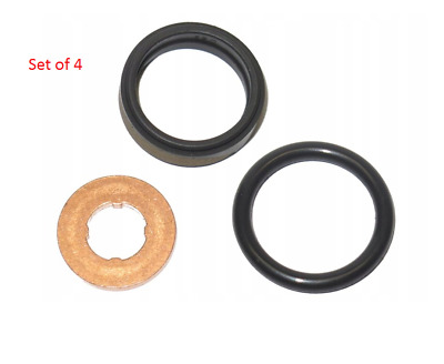 For Vauxhall Astra G Zafira A 2.0 2.2 New 4x Fuel Diesel Injector Seals Set Of 4 • 27.99£