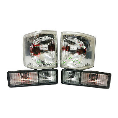 Land Rover Discovery 1 New Front & Rear Clear Light Lamp Upgrade Set (1994-1998) • 54.95£