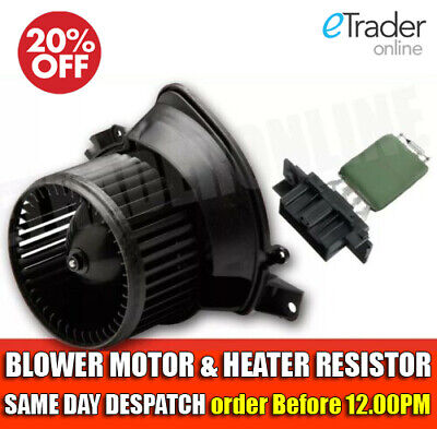 Vauxhall Corsa D Heater Blower Motor / Fan & Resistor 2006 Onwards Mk3 New  • 49.99£