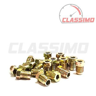 20 Brake Pipe End Union Nuts MALE METRIC M10 X 1mm • 5.99£