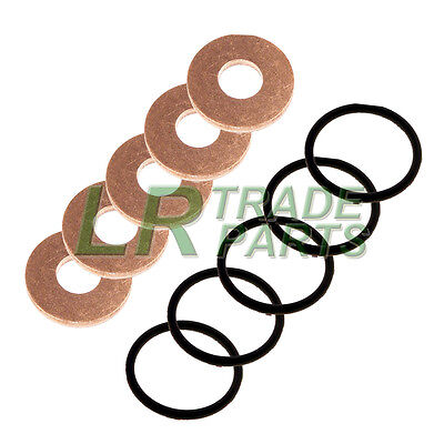 Land Rover Defender Td5 Genuine Fuel Injector Washers With Oem Seals, O-rings • 24.95£