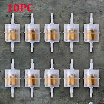 10x Universal Car Parts LARGE Inline Fuel Filter Auto Petrol 6mm 8mm Pipe Useful • 8.49£