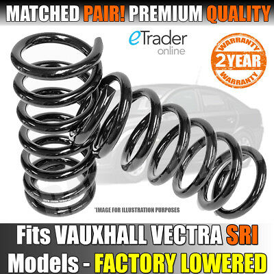 For VAUXHALL VECTRA C SRI CDTI TURBO REAR COIL SPRINGS SPRING PAIR Mk2 02-09 NEW • 32.99£