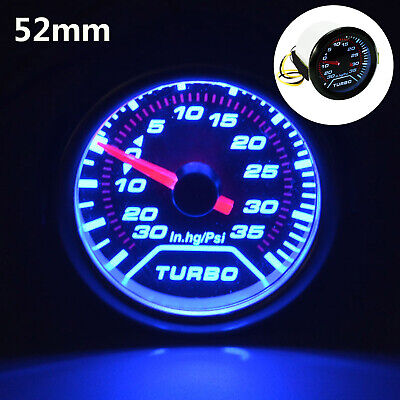 52mm Turbo Boost Pressure Pointer Gauge Meter  Dials Smoked 30Psi Pob LED • 11.69£