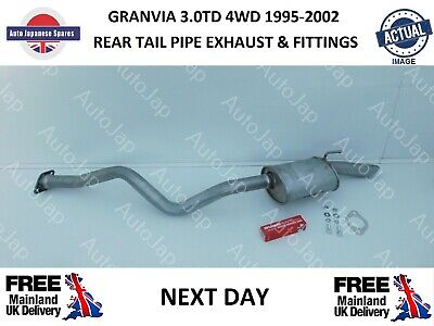 Toyota Granvia 1995 - 2002 3.0DT 4WD Rear Tail Pipe Exhaust Section & Fittings • 89£