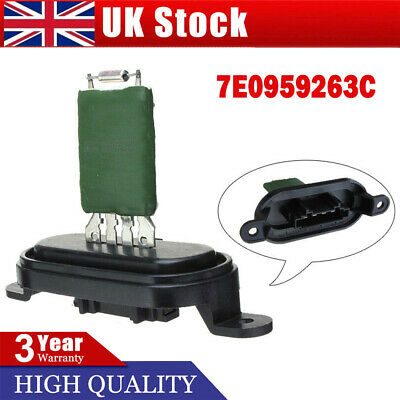For VW T5 Transporter MK5 Heater Blower Resistor Fan Motor Resistance 7E0959263C • 11.44£