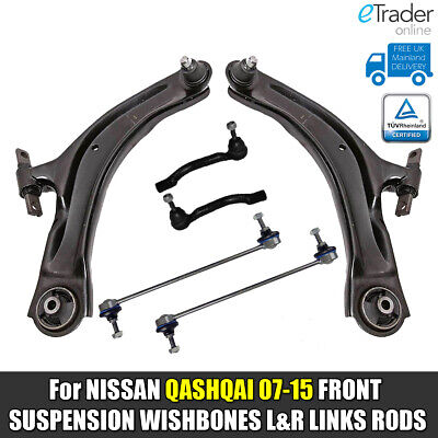 For NISSAN QASHQAI FRONT LOWER WISHBONES ARMS DROP LINKS TRACK ROD ENDS 07> J10  • 67.98£