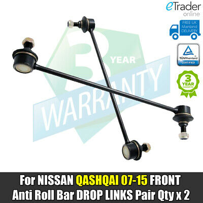 For NISSAN QASHQAI FRONT DROP LINKS ANTI ROLL BAR LINK PAIR QTY X 2 07>15 J10  • 11.98£