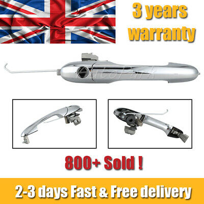 735592012 / Fiat 500 Drivers Side Outer Door Handle (UK) - Chrome - Offside (OS) • 20.39£