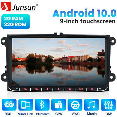 9  Andriod Car Radio Stereo DSP Player GPS BT For VW Golf Passat Touran Tiguan • 159.99£