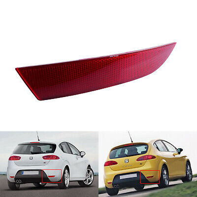 Rear Bumper Reflector Right O/S Side Red Lens For Seat Leon FR / Cupra 2005-12 • 12.85£