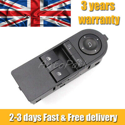 Front Right Window Mirror Switch For Vauxhall Astra H Zafira-B Electric 13228879 • 14.99£