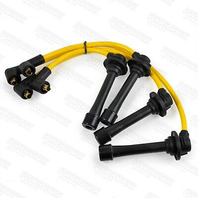 Mazda MX5 Mk1 And Mk2 Powerspark 8mm Double Silicone HT Leads In Yellow • 18.49£