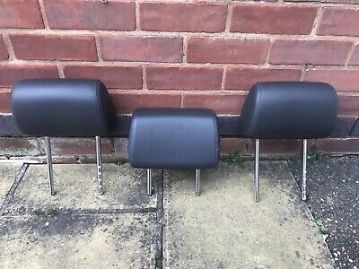 Vw T5 T6 Transporter Caravelle Leather Headrests X3 • 85£