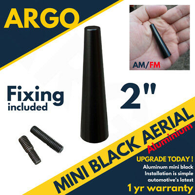 Black Bee Sting Aerial Car Mast Antenna Ariel Arial Mini Radio Stubby Am Fm 2  • 4.49£