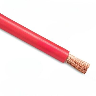 5m Red Battery Welding Cable 35mm² 240a Flexible Marine 0AWG 0 Gauge Power OFC • 24.99£