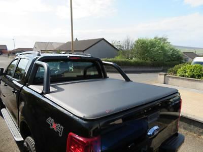 Fits Ford Ranger Black Edition Soft Roll Up Load Bed Tonneau Cover • 289£
