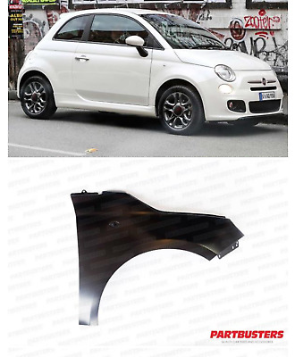 Fiat 500 2007-2015 Front Wing Driver Side Right High Quality New Primed • 27.99£