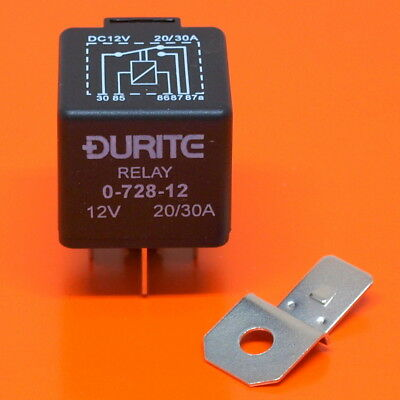 Durite 0-728-12 Relay 12V 20/30 Amp 5 Pin Relay Changeover As Lucas SRB501 • 6.90£
