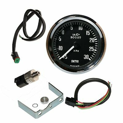 Smiths -15 To +30 Psi Stepper Motor Boost Gauge 52mm With 1/8 NPT Sender • 183.48£