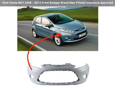 Ford Fiesta Mk7 2008-2012 Front Bumper With Fog Holes Primed Ready For Painting • 41.99£