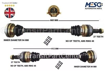 A PAIR OF RIGHT & LEFT REAR DRIVE SHAFTS FITS BMW 1 E87 116i 2004-2011 • 131.10£