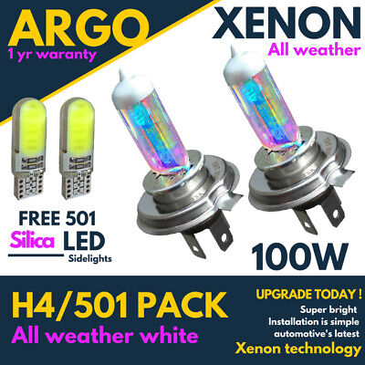 H4 Xenon Led White 100w All Weather 501 Side Light Headlight 472 Bulbs Hid P43t • 7.97£