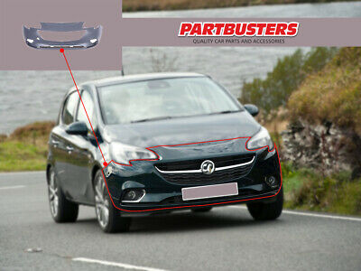 Vauxhall Corsa E 2015 - On Front Bumper No Sensors Primed Ready To Paint • 60.49£