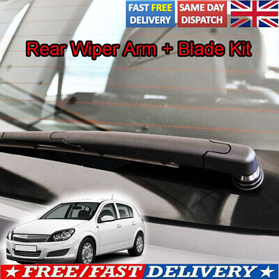 Rear Wiper Blade & Arm Kit Set For Vauxhall  Astra 2004 2005 2006 2007 2008 2009 • 9.39£