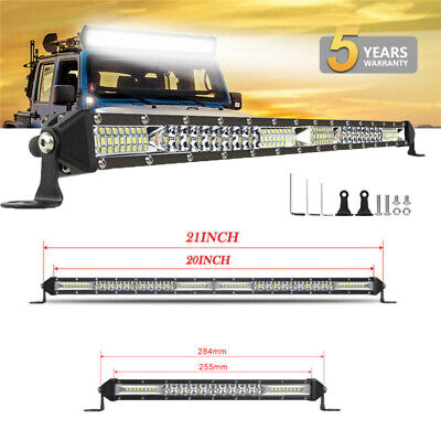 10 20 32 Inch Single Row Slim Combo LED Work Light Bar For Car Off Road Truck • 23.04£