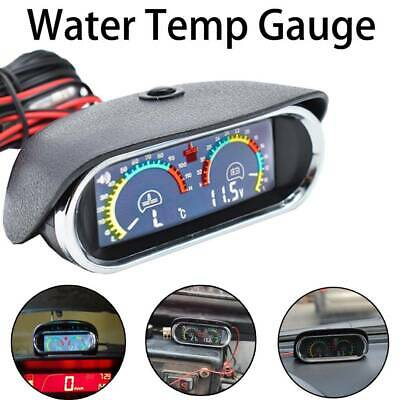 Universal  Digital 12V/24V LCD Water Temp Voltmeter Voltage Gauge  Display UK • 13.49£