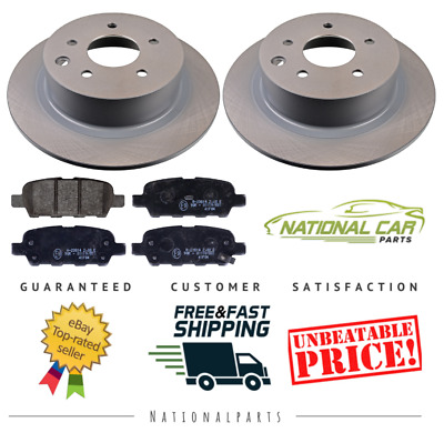 For Nissan Qashqai 1.5 1.6 2.0 2007-2014 Rear 292mm Solid Brake Discs & Pads Set • 45.25£